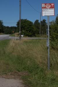 Busshållplats Nothamns vägskäl