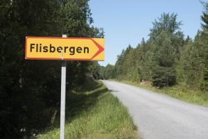 Skylt Flisbergen